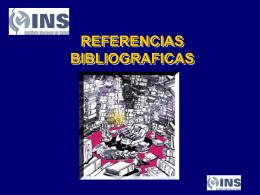 7-Referencias bibliograficas - BVS - INS