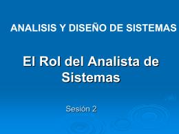 1. El Rol del Analista de Sistemas