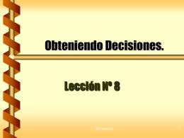 Obteniendo Decisiones.