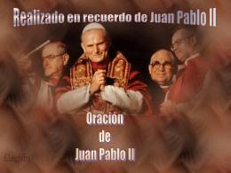 Oracion de Juan Pablo II