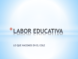 LABOR EDUCATIVA