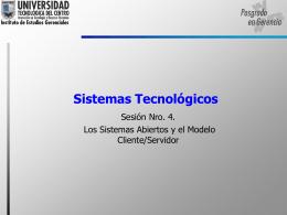 El Modelo Cliente/Servidor