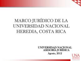 NATURALEZA DE LA UNIVERSIDAD NACIONAL
