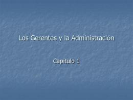 FUNDAMENTOS DE GERENCIA
