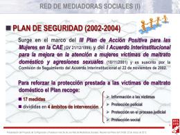 RED DE MEDIADORAS SOCIALES (I)