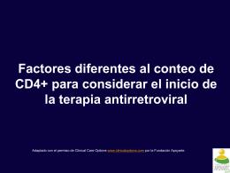Factores diferentes al conteo de CD4+ para considerar el
