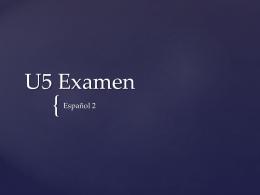 U5 Examen