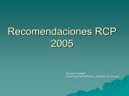 RCP recomendaciones 2005
