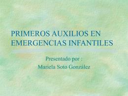 PRIMEROS AUXILIOS EN EMERGENCIAS INFANTILES