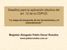 EL ACCESO A LA JUSTICIA DE LAS PCD: ARTICULO 13