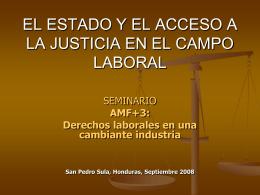 ACCESO A LA JUSTICIA - es.maquilasolidarity.org