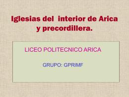 Iglesias del interior de Arica y precordillera.