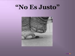 """No Es Justo"""""""