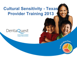 Cultural Sensitivity - DentaQuest Provider Network
