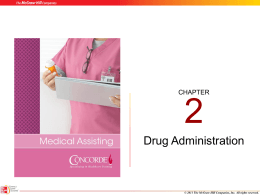 Drug Administration - McGraw
