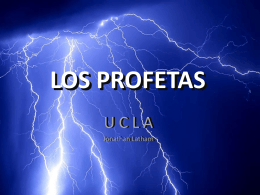 LOS PROFETAS - Lic. Jonathan Latham