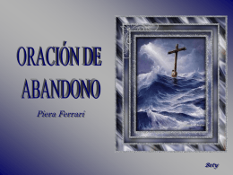 ORACION DE ABANDONO