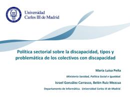 POLITICA SECTORIAL SOBRE LA DISCAPACIDAD, TIPOS Y