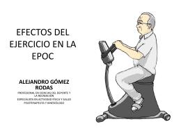 EFECTOS DEL EJERCICIO EN LA EPOC