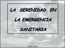 LA SERENIDAD EN LA EMERGENCIA SANITARIA