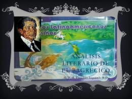 ANALISIS LITERARIO DE EL BAGRECICO