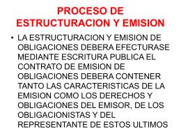 PROCESO DE ESTRUCTURACION Y EMISION