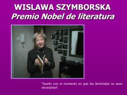 WISLAWA SZYMBORSKA Premio Nobel de literatura