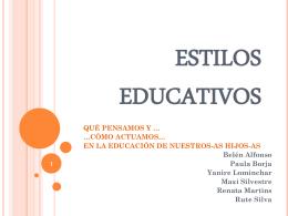 LOS ESTILOS EDUCATIVOS