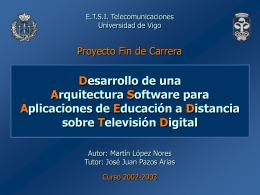 Desarrollo de una arquitectura software para aplicaciones