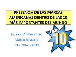 MARCAS AMERICANAS EN EL TOP 10 DEL MUNDO