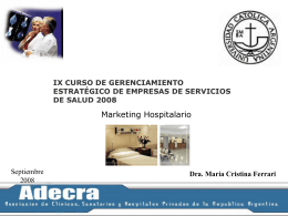 Marketing Hospitalario - UCA Pontificia Universidad