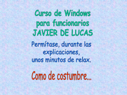 Curso de Windows para funcionarios