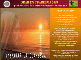 Orar en ENERO 2008