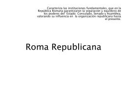Roma Republicana - Clase de Historia
