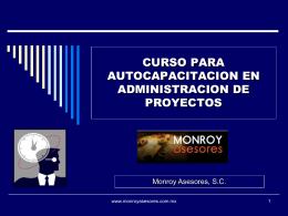 MATERIAL CURSO DE ADMINISTRACION DE PROYECTOS