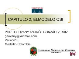 CAPITULO 2, ELMODELO OSI