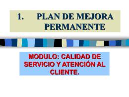 1. PLAN DE MEJORA.