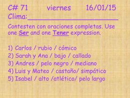 C# 71 viernes 16/01/15 Clima:____________________