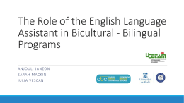 The Role of the English Language Assistant in Bicultural