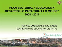 PLAN NACIONAL DECENAL DE EDUCACION