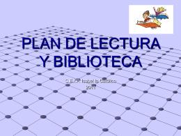 PLAN DE LECTURA Y BIBLIOTECA