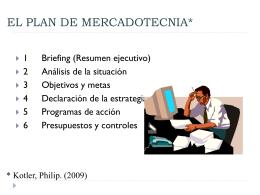 EL PLAN DE MERCADOTECNIA