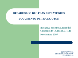 STRATEGIC PLAN DEVELOPMENT WORKING DOCUMENT …