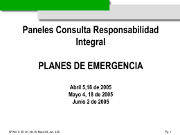Plan Emergencia Barrio