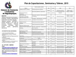 Plan de Capacitaciones 2014