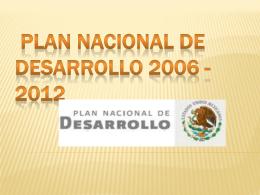 PLAN NACIONAL DEL DESARROLLO EN LA EDUCACION