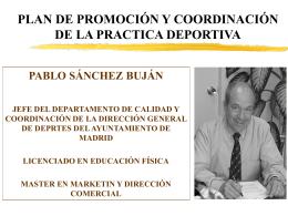 Plan de promocion de la practica deportiva en centroamerica