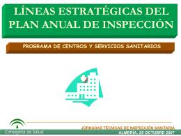 LINEAS ESTRATEGICAS DEL PLAN ANUAL DE INSP.