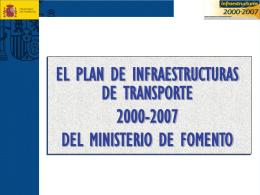 Plan de Infraestructuras 2000