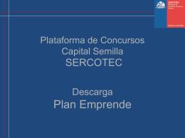 Plataforma de concursos Capital Semilla Plan Emprende